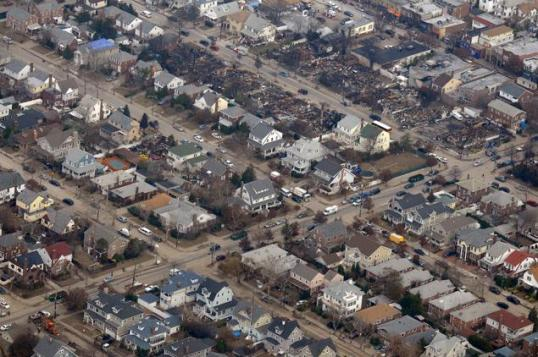 Houses destroyed by AA Flight 587 - Beach 130th Street