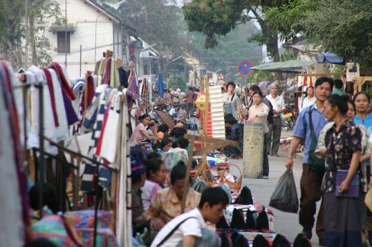 Laotian street market