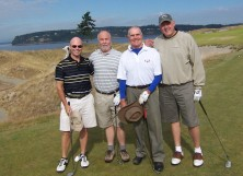 """My Favorite Foursome"" - Roy the cornerstone 2nd from right - Chambers Bay"